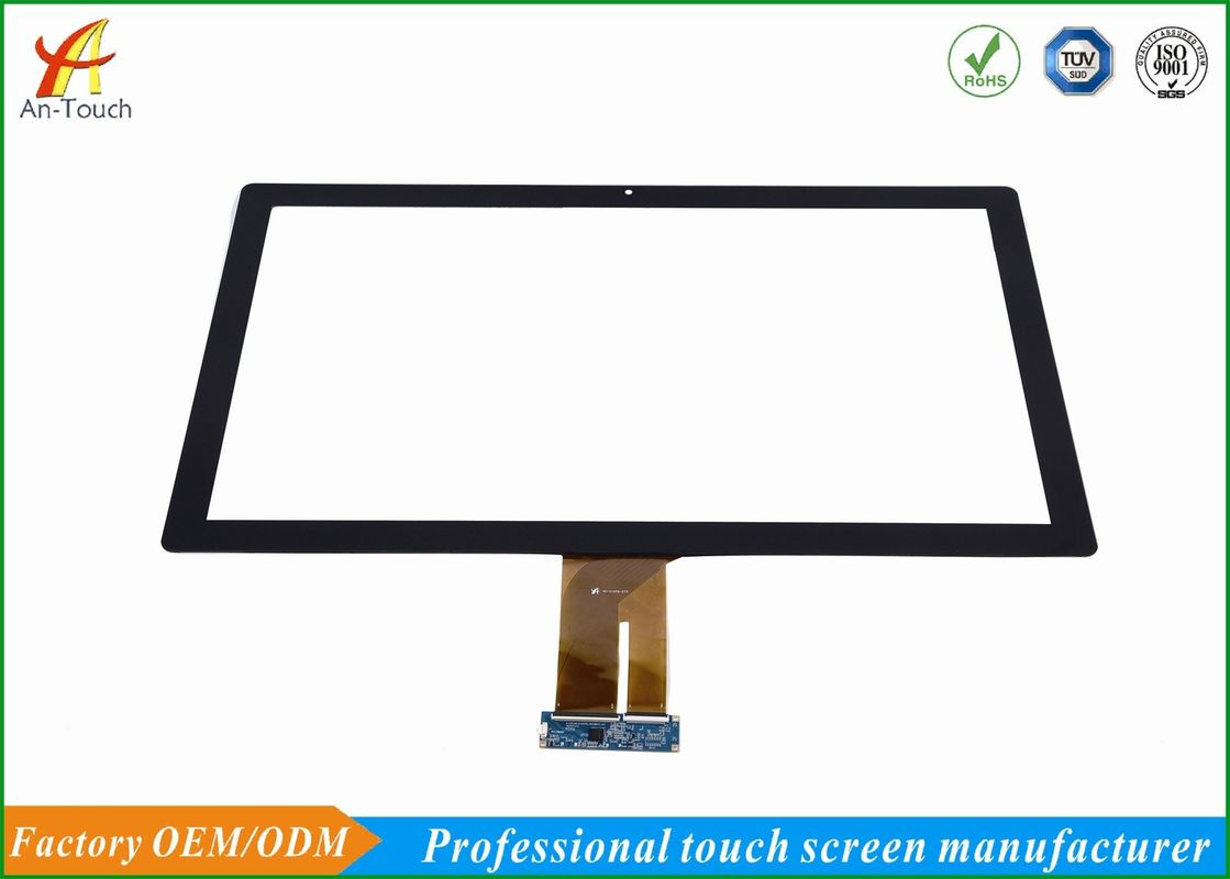 27 Inch Capacitive Touch Screen Overlay , Transparent Glass Touch Screen Panel