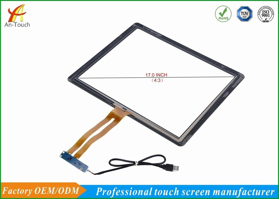 High Sensitive 17 Touch Panel For Kiosk Glass Touch Digitizer Replacement